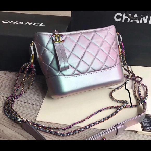 f6cb50146305 🦄️Chanel Gabrielle🦄 rainbow purple small bag